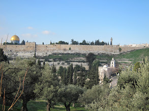 Photo: City wall from Gethsemane