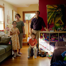 Photo: title: Michelle Roy, David Field, Spencer + Evelyn Field Roy, Portland, Maine date: 2013 relationship: friends, met at Deering High School years known: David 25-30, Michelle 0-5