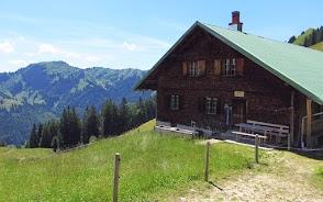Alpe Gatter Blick zum Siplingerkopf Nagelfluhkette Allgäu