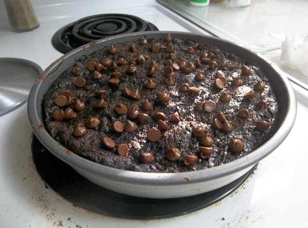 Family favorite #2: Chocolate cake mix, cherry pie filling and chocolate chips to sprinkle...