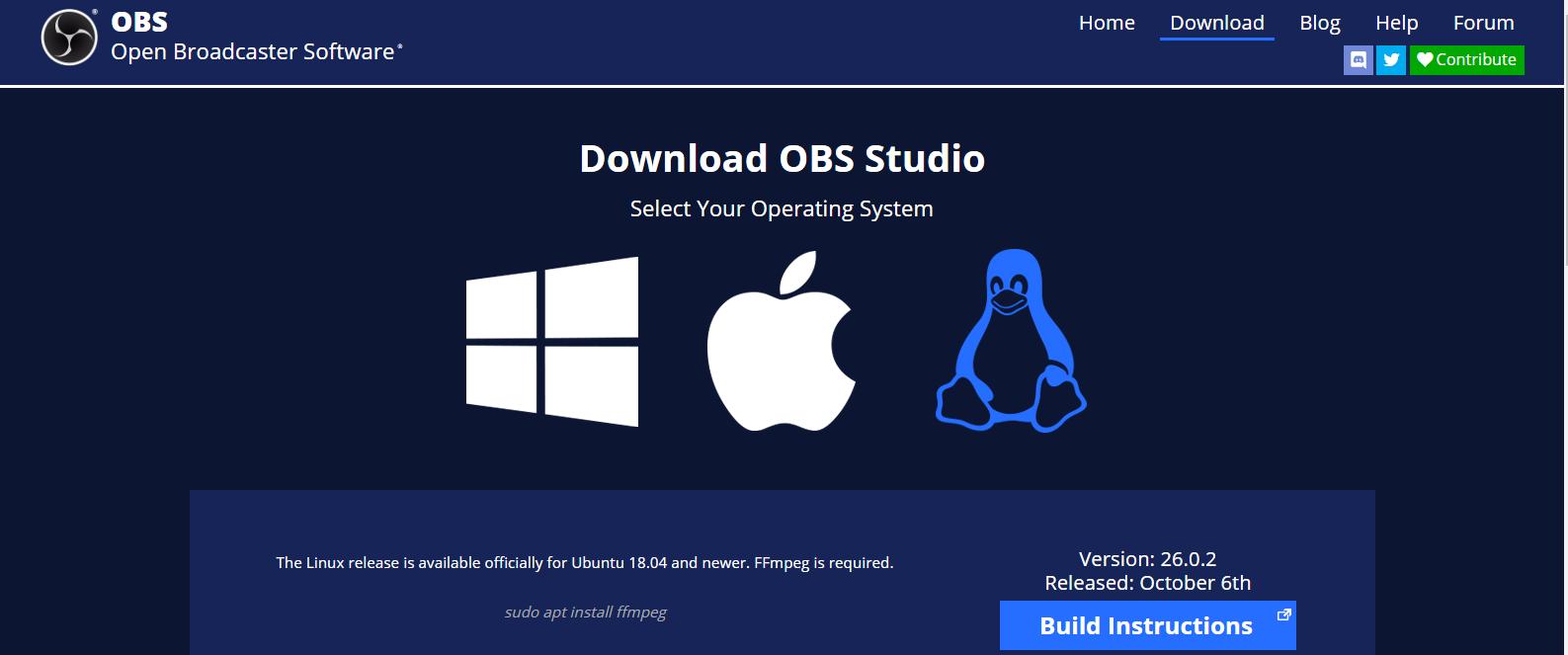 Install OBS Studio on Windows, macOS, Ubuntu