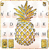 Gold Glitter Pineapple Keyboard Theme