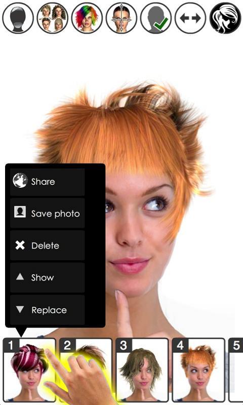 Magic Mirror, Hair styler Screenshot 5
