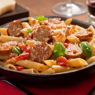 Steamy Sausage & Pepper Pasta.