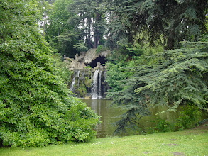 Photo: We have somehow missed the rose exhibition at the Orangerie in the Parc de Bagatelle, which we realize when we end up at the Grande Cascade waterfall.