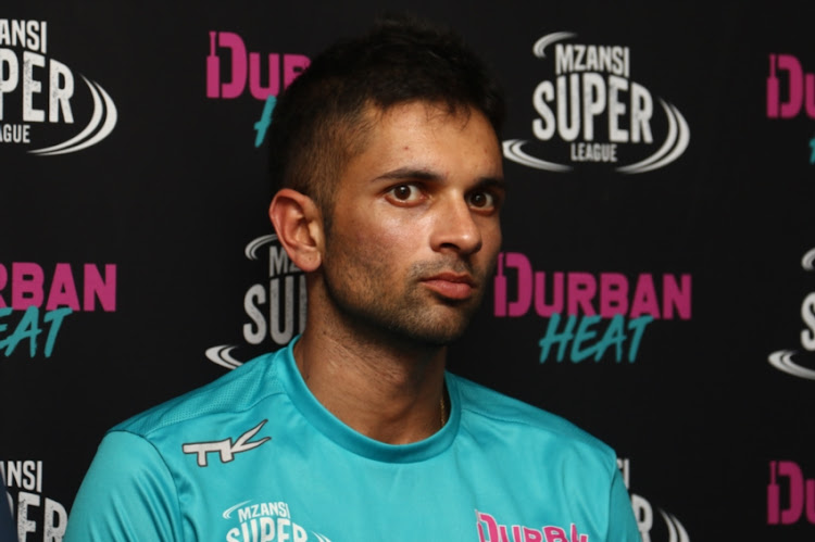 Keshav Maharaj . during the Durban Heat Media Opportunity at Kingsmead Cricket Stadium on November 27, 2018 in Durban, South Africa.
