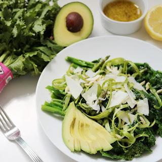 Raw Asparagus Salad with Broccoli Rabe.