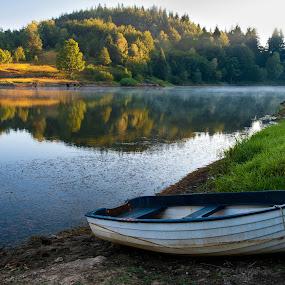 Waiting... by Gordana Kvajo - Transportation Boats