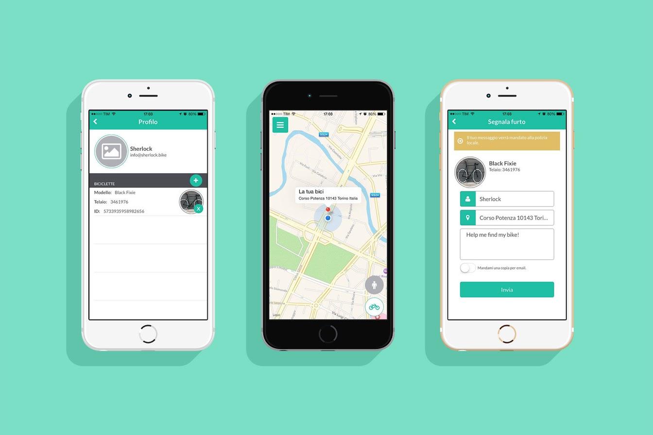 Sherlock App: Ritrova la bici in caso di furto