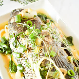 Steamed Whole Fish (Jamaican Style with a twist).