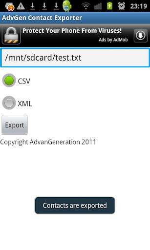 AdvGen Contact Exporter screenshots 2