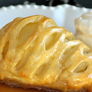 Pears in Puff Pastry with Lemon Caramel Sauce