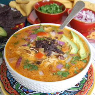 Slow Cooker Cheesy Chicken Mexican Soup