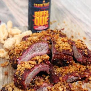 Pork Rind Crusted Ribs with Buffaque Sauce Recipe