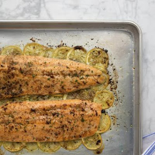 Arctic Char with Crispy Lemons and Anchovy Butter.