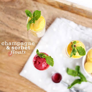 Champagne Sorbet Floats.