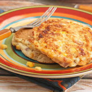 Savory Country Ham & Corn Fritters.