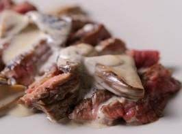 Grilled Steak with Porcini Mushroom Sauce