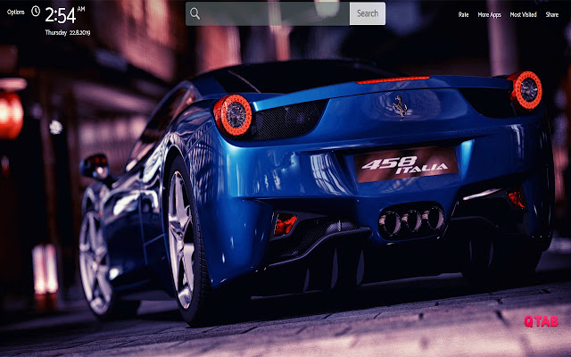 Ferrari Wallpapers Theme |GreaTab