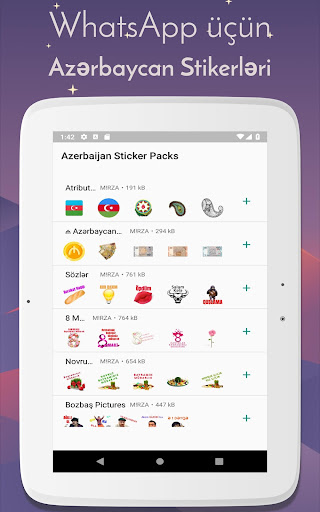 Azerbaijan Stickers for WhatsApp - WAStickerApps 12.2.06 screenshots 9