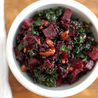 Nutty Forbidden Rice, Roasted Beet & Kale Salad