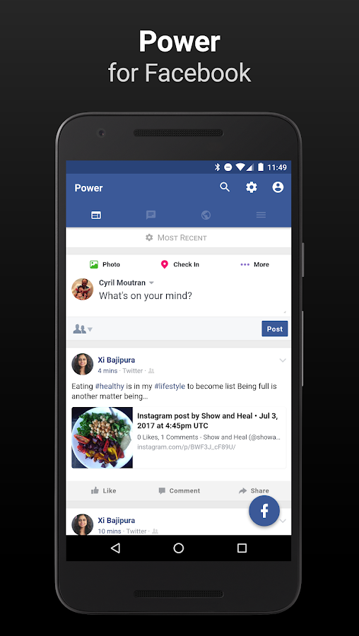 Power for Facebook- screenshot