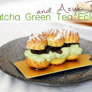 Matcha Green Tea Eclairs
