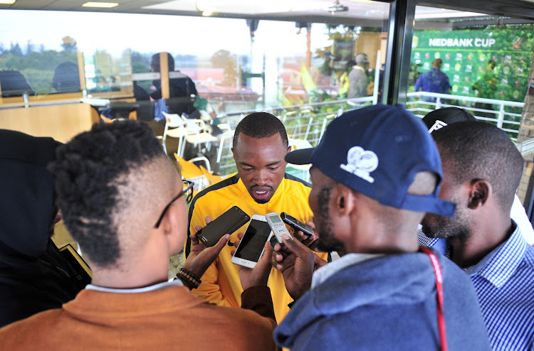 Kaizer Chiefs striker Bernard Parker speaking to reporters during the Nedbank Cup media day at Chiefs Village, Johannesburg on 08 March 2018.