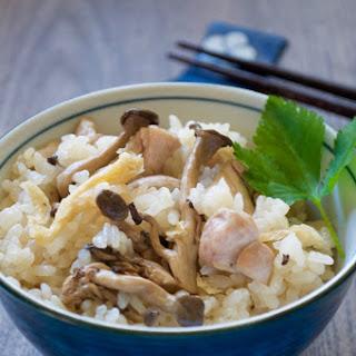 Shimeji Gohan (Rice with Shimeji Mushrooms)