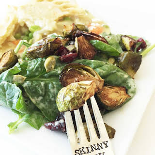 Roasted Brussels Sprouts & Baby Greens Salad.