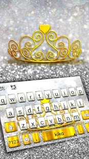 Silver Gold Crown Keyboard Theme - náhled
