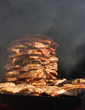 Photo: pile of smoky meat!