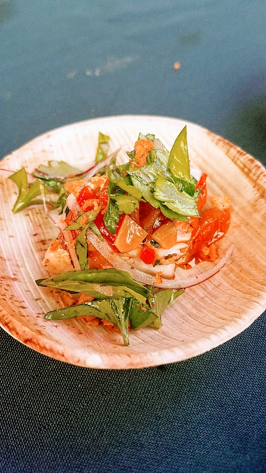 Review of Feast PDX Smoked 2017, Jeremiah Langhorne of The Dabney from Washington DC made a dish of Spicy Charcoal-Grilled Chicken with Sweet & Sour Peppers and Schmaltz Mayo
