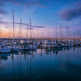West Haven Marina, Auckland by Graeme Hunter - Transportation Boats
