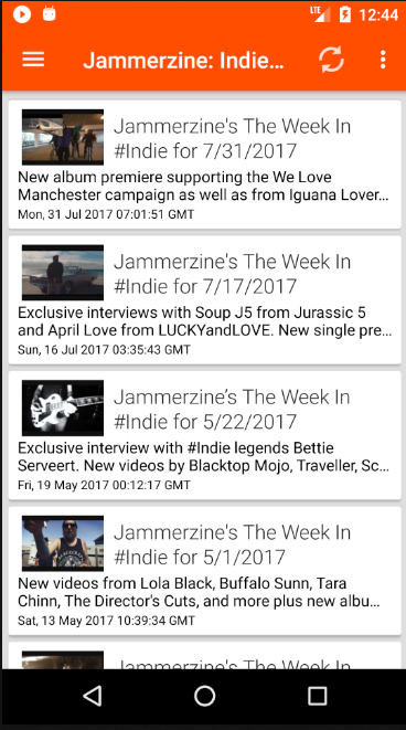 Jammerzine: Indie for Android- screenshot