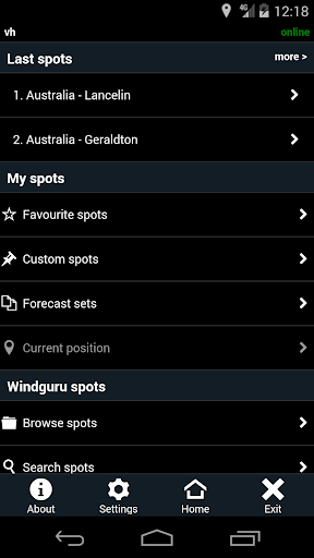 Windguru Old 1.1.12 screenshots 1