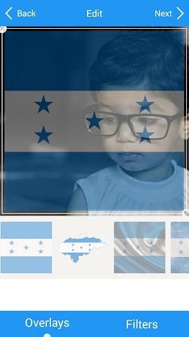 android Selfie with Honduras flag Screenshot 3