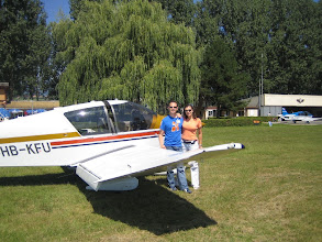 Photo: Me and Mimi in Yverdon just after the landing http://www.swiss-flight.net