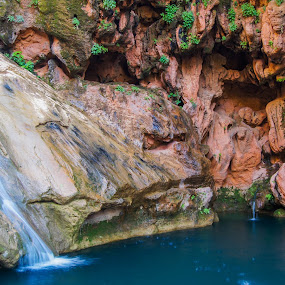 cold waterfall by Mehdi Laraqui - Landscapes Waterscapes ( water, mountain, nature., waterfall, wet, landscape, morocco, rocks )
