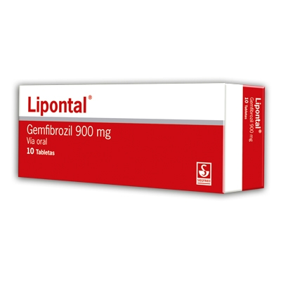 Gemfibrozil Lipontal 900 Mg X 10 Tabletas Siegfried 900 mg x 10 Tabletas