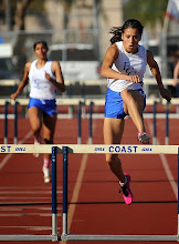 Photo: Crystal Lizaola winner 100 Hurdles (15.43) and 400 Hurdles 65.85