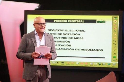 Jorge Rodríguez in TV-Sendung.