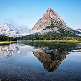 Grinnell Point 2 by Richard Michael Lingo - Landscapes Waterscapes ( mountain, waterscape, montana, lake, landscape )