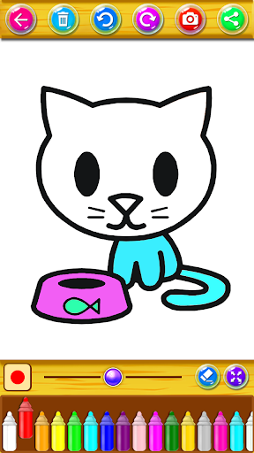 Kitty Coloring Book & Drawing Game 2.0.0 screenshots 7