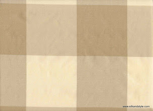 Photo: Silk Taffeta - Large Checks ~ IND - 3E