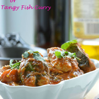 Fish Pulusu or Tangy Fish Curry