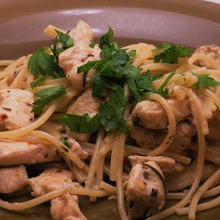 Chicken Pasta With Anchovy Rosemary Sauce