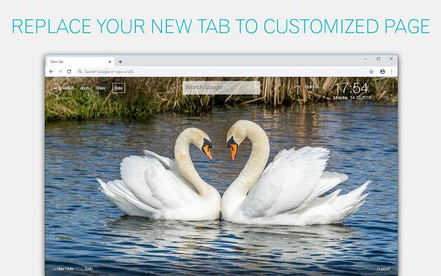 Swan Wallpaper HD Custom New Tab