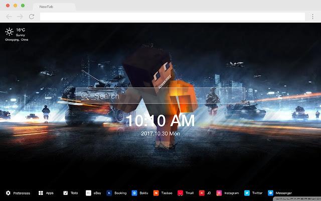 minecraft Pop Games HD New Tabs Themes