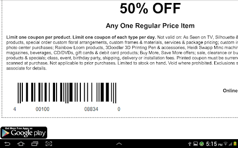 Coupons for Michaels Canada screenshot 2